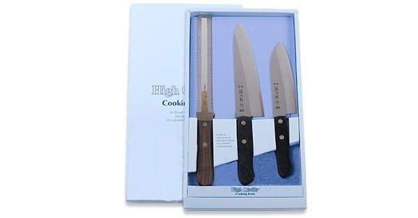 Набор из 3 кухонных ножей Tojiro FG-82