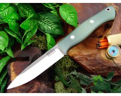 Нож туристический Bark River Aurora Ghost Green Jade G-10 Black