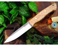 Нож туристический Bark River Aurora Natural Birdseye Maple