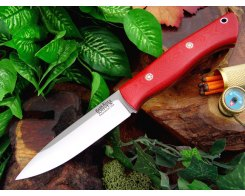 Нож туристический Bark River Aurora Red Linen Micarta Mosaic