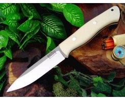 Нож туристический Bark River Aurora White Bone Micarta