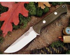 Нож туристический Bark River Bravo 1 3VR Green Linen Micarta