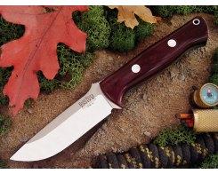 Нож туристический Bark River Bravo 1 3VR Maroon Linen Micarta