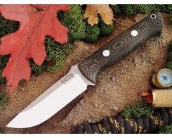 Охотничий нож Bark River Bravo 1 Black-Green Linen Matte, A2, 105 мм.