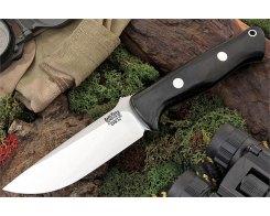 Нож туристический Bark River Bravo 1 LT, CPM 3V, Black Micarta