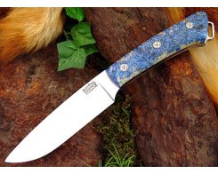 Нож туристический Bark River Fox River Blue & Gold Elder Burl