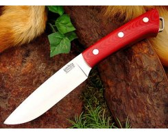 Нож туристический Bark River Fox River Red Linen Micarta