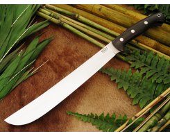 Мачете туристический Bark River Golok Upswept Black Canvas Micarta