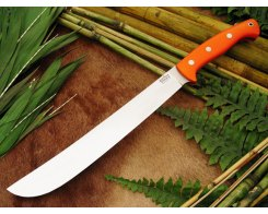 Мачете туристический Bark River Golok Upswept Blaze Orange G-10