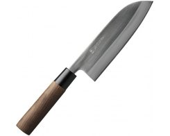 Кухонный нож Gihei-hamono SLD Santoku 165 мм. (японская ручка)