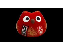 """Фигурка """"Манэки- Сова"""" Hatamoto MS-04, 5см, ручная работа, красная"""
