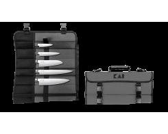 Набор из 5-х кухонных ножей KAI Wasabi Black DM-0781EU67, 100 мм., 150 мм., 165 мм., 200 мм., 230 мм.