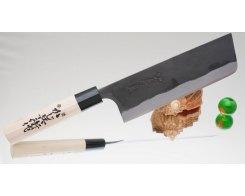 Кухонный нож Kajibee Shirogami Kurouchi Nakiri 165 мм