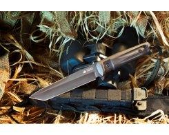 Тактический нож Kizlyar Supreme 00053 Aggressor, AUS-8 Black Titanium