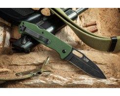 Складной нож Kizlyar Supreme 009331 Ute 440C StoneWash Green G10, 85 мм.