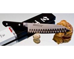 Нож сантоку Misono Molibden Steel с проточкой Santoku 180 мм.