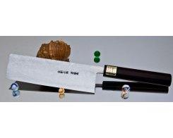 Кухонный нож для шинковки Moritaka AS Damaskus Nakiri 135 мм.