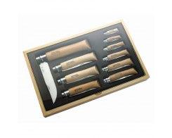Набор Opinel в деревянной коробке 10 ножей, нержавеющая сталь, бук