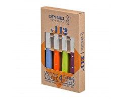 Набор ножей Opinel Set of 4 N°112 assorted sweet pop colours, нержавеющая сталь, (4 шт./уп.)