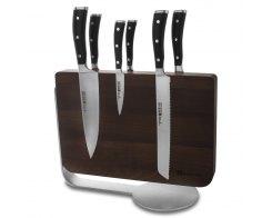 Набор кухонных ножей 6 штук на деревянной, магнитной подставке Wuesthof Classic Ikon 9884