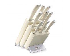 Набор кухонных ножей 9 предметов в подставке Wuesthof Ikon Cream White 9874
