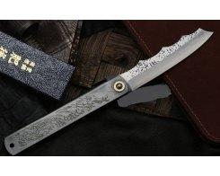 Складной нож хигоноками Nagao Higonokami HPDA-100Black