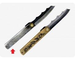 Складной нож хигоноками Nagao Higonokami HPDA-100Silver