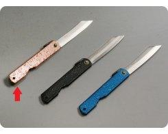 Складной нож хигоноками Nagao Higonokami HWA-80Pink