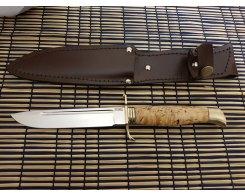 """Нож """"Финка НКВД"""", ст. Х12МФ, карел.берёза, 2,4 мм., 14.5 см."""