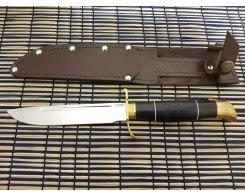 "Нож ""Финка НКВД"", сталь 95х18, кожа+граб, 2,4 мм., 14,5 см."