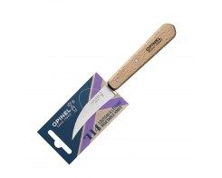 Нож для чистки овощей Opinel №114, нержавеющая сталь, дерево, 70 мм.