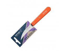 Нож для чистки овощей Opinel №114, нержавеющая сталь, оранжевый, 70 мм.