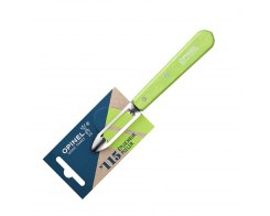 Нож для чистки овощей Opinel №115, нержавеющая сталь, зеленый, 100 мм.