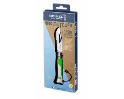 Складной нож Opinel №8 Fluo Green, нержавеющая сталь, зеленый, 85 мм.