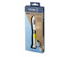 Складной нож Opinel №8 Fluo Yellow, нержавеющая сталь, желтый, 85 мм.