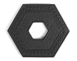 Чугунная подставка под чайник IWACHU 17006, 13,5х15 см. шестиугольник, цвет черный