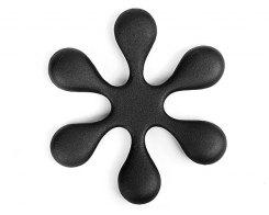 Чугунная подставка под чайник IWACHU 17093, 15 см. цветок, цвет черный