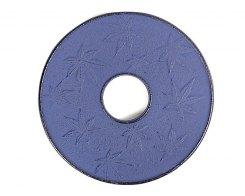 Чугунная подставка под чайник IWACHU 17737, 14 см. круг, кленовый лист, цвет синий