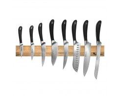 Набор кухонных ножей на магнитном держателе из дуба, 8 предметов, Robert Welch RW/KS010SON, сталь X50CrMoV15.