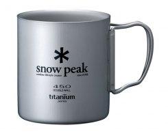 Кружка Snow Peak MG-053R, 450 мл (двойная стенка), титан