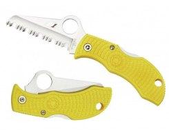 Складной нож Spyderco Manbug MYLS Yellow FRN handle