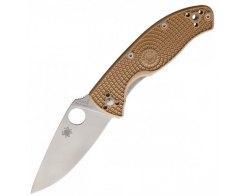 Складной нож Spyderco Tenacious Lightweight C122PTN, Tan FRN Handle, 86 мм