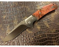 Складной нож Steelclaw Резервист MAR05, стабилизированный кап клёна