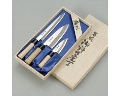 Набор из трёх ножей Tojiro FC-123 Ryuutoku-saku