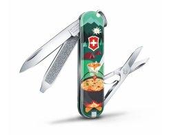 "Швейцарский нож Victorinox Classic SD ""Swiss Mountain Dinner"" 0.6223.L1907, 7 функций"