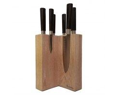 Настольная подставка для ножей Woodinhome KS003SOW 15х24х15 см.