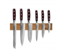 Набор из 6-ти кухонных ножей на магнитном держателе из дуба Yaxell GOU 161 YA/SGOU-KS001SON