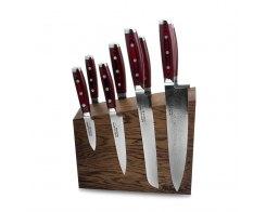 Набор из 8-ми кухонных ножей на подставке из дуба Yaxell GOU 161 YA/SGOU-KS004SOB