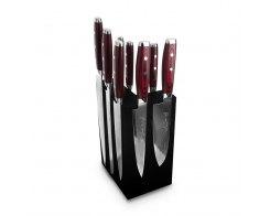 Набор из 8-ми кухонных ножей на подставке из дуба Yaxell GOU 161 YA/SGOU-KS009SOBL