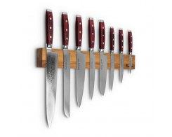 Набор из 8-ми кухонных ножей на магнитном держателе из дуба Yaxell GOU 161 YA/SGOU-KS010SON